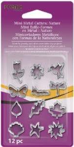 Premo! Mini Metal Cutter, Nature, 12 Designs