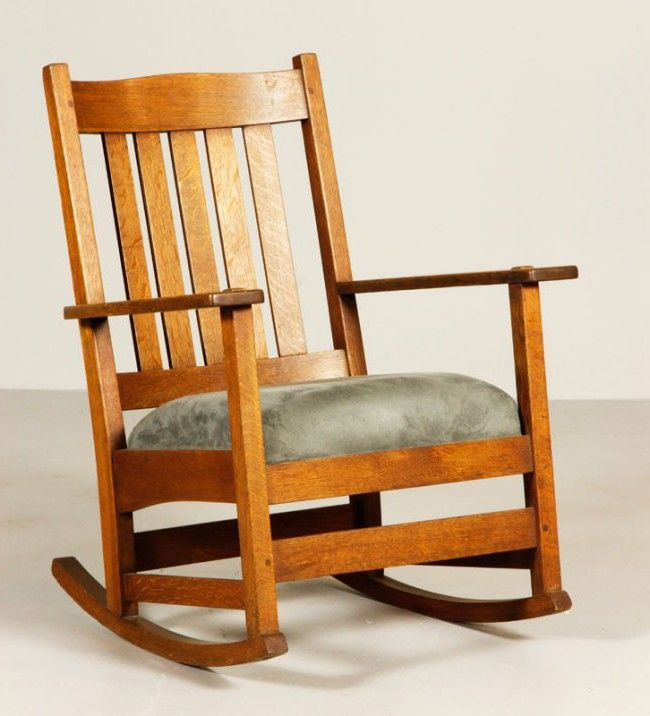 Stickley Style For Upholstered Rocking Chair · Upholstered Rocking Chairs