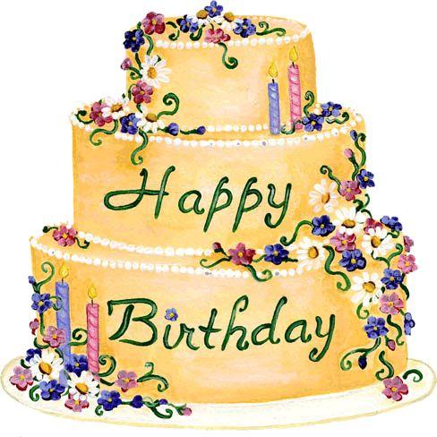 Happy Birthday With Cake Gif