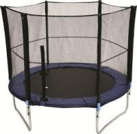 Large trampoline + safety net  Saftey first...  As per your request, Educanda now offers extra  fun for the Playground.  This trampoline includes a safety net that  attaches outside of the trampoline and is easy  to assemble.  A mini one for nurseries & crches and a large  one fit for both primary & secondary schools.  Net size: 2.4 m with steel uprights with durable  mesh  Trampoline size: 24 m L  List Price: R2100.00