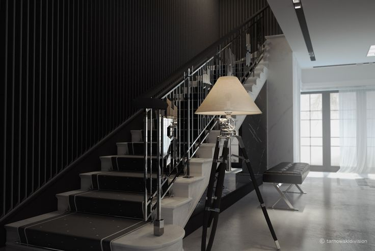 HOUSE INTERIOR. HALL AND STAIRCASE. designed by tarnowskidivision