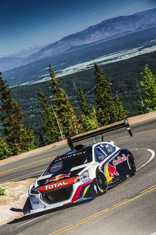 Seb Loeb negotiates Pikes Peak in his Peugeot 208 T16 We take a look at Pikes Peak www.racerviews.com (Photo: Peugeot Sport)
