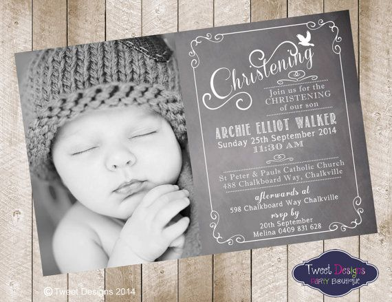 CHRISTENING Dove Blackboard Printable di TweetPartyBoutique