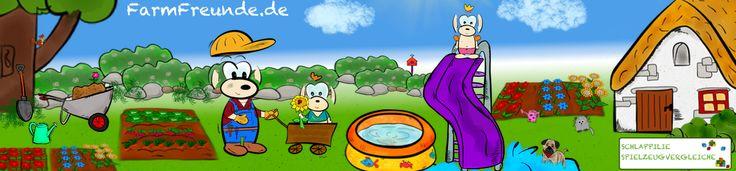 Auch in Schlappland ist jetzt Sommer ;) Passend dazu haben unsere kleinen Schlappilie Kinder eine grooße Rutsche und ein buntes Planschbecken spendiert bekommen. Spaß ist also garantiert ;) Das beste Gartenspielzeug für eure Kleinen findet ihr auf www.FarmFreunde.de