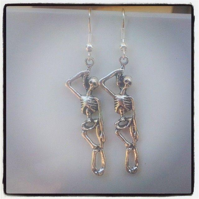Silver Skull/ Skeleton Earrings $5 Aust. From Rags To Bags on FaceBook.