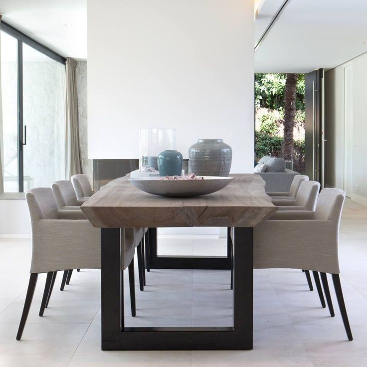 Best 25 contemporary dining rooms ideas on pinterest for Modern wooden dining table designs