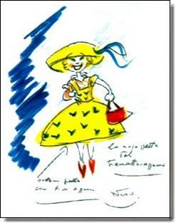 disegno di Federico Fellini/drawing by Fellini