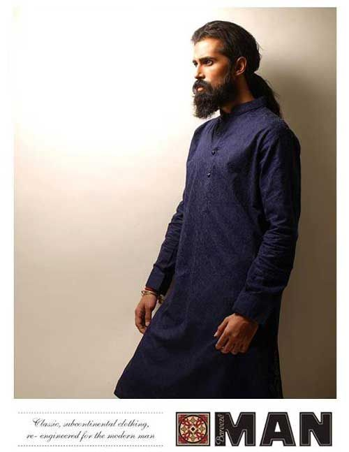 Kurta Designs for Men 2012 2013 by Bareeze a Calefacient Touch in Winter | Cybo Tainment