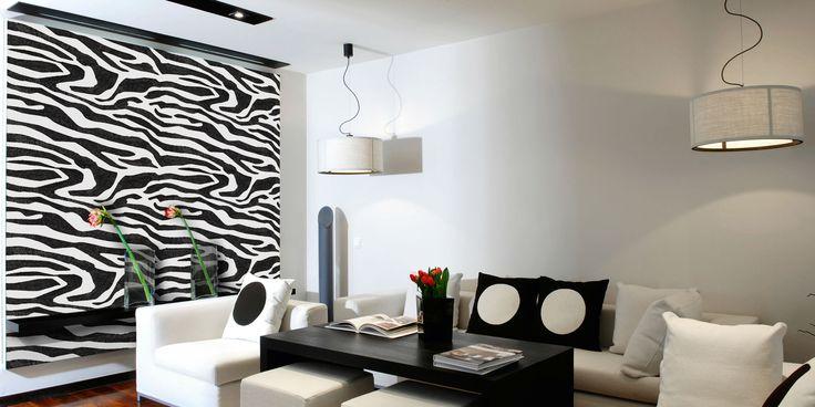 Wanneer u kiest voor een structuur uit de Valpaint 'Jungle' lijn, kunt u bijvoorbeeld deze Zebra print tegenkomen. De Zebra print is geschikt voor kleine muren die u extra in het oog wilt laten springen of juist op de schouw of als jungle-thema in de kinderkamer.