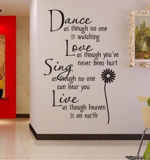 Vinyl Fence Quality Wall Sticker Directly From China Removable Stickers Suppliers Free Off Dance Love Sing Live Quotes