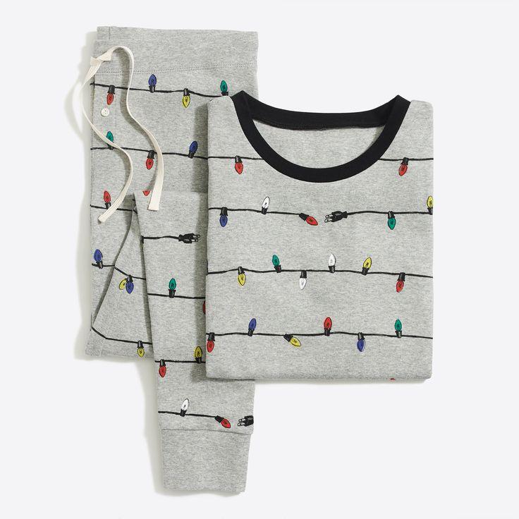 Printed ribbed knit sleep set : FactoryWomen Pajamas   Factory