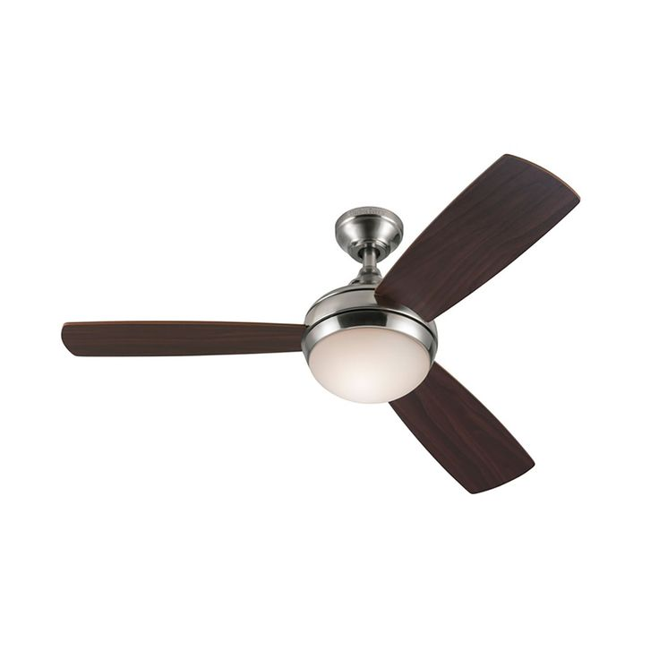 Harbor Breeze Sauble Beach 44 In Brushed Nickel Downrod Or Close Mount Indoor Ceiling Fan With