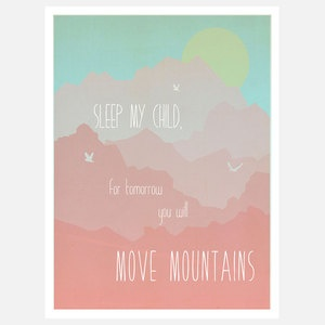 Move Mountains Print Pink now featured on Fab.: For Kids, Mountain Prints, Fab Com, Art Prints, Moving Mountain, Prints Pink, Baby Things, My Children, Recycled Art