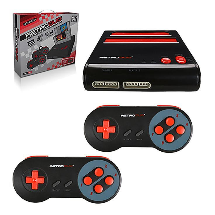 RetroDuo - Console - SNES & NES Dual 2in1 System - Red/Black (Retro-Bit) https://www.retrogamingstores.com/gaming-accessories/retro-duo-black-red-edition-snes-nes-system-retroduo-version-3-0  Enjoy the game with your buddy with this duo console.