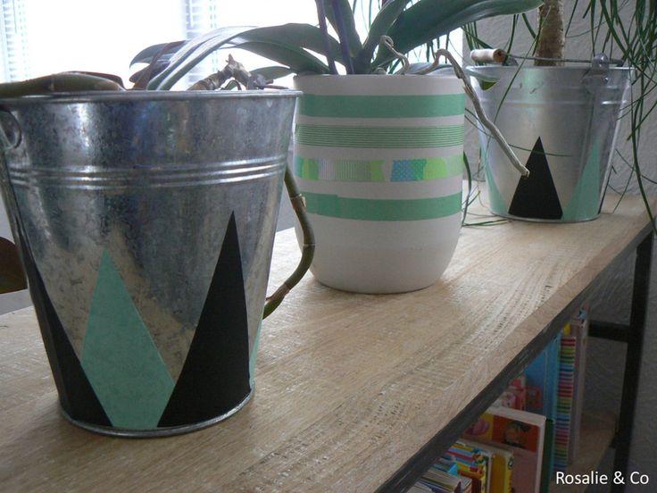 masking tape vase by Rosalie & Co