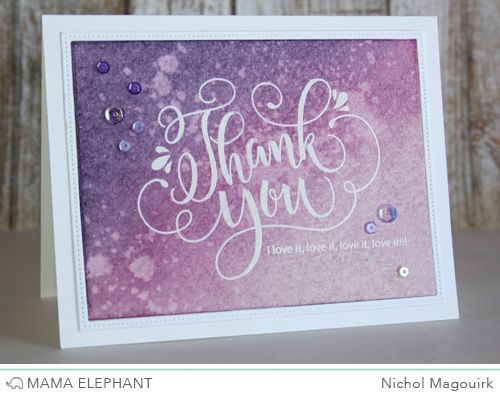 Check out all the cards Nichol made with this beautiful new stamp from Mama Elephant!