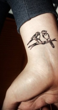 birds tattoo on back?