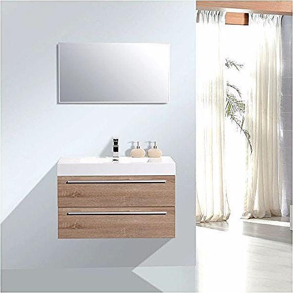 Ensemble Salle De Bain T730 De Couleur Chene Blanchi Miroir En Option Avec Miroir En Alu Bernstein Single Vanity Vanity Bathroom Vanity