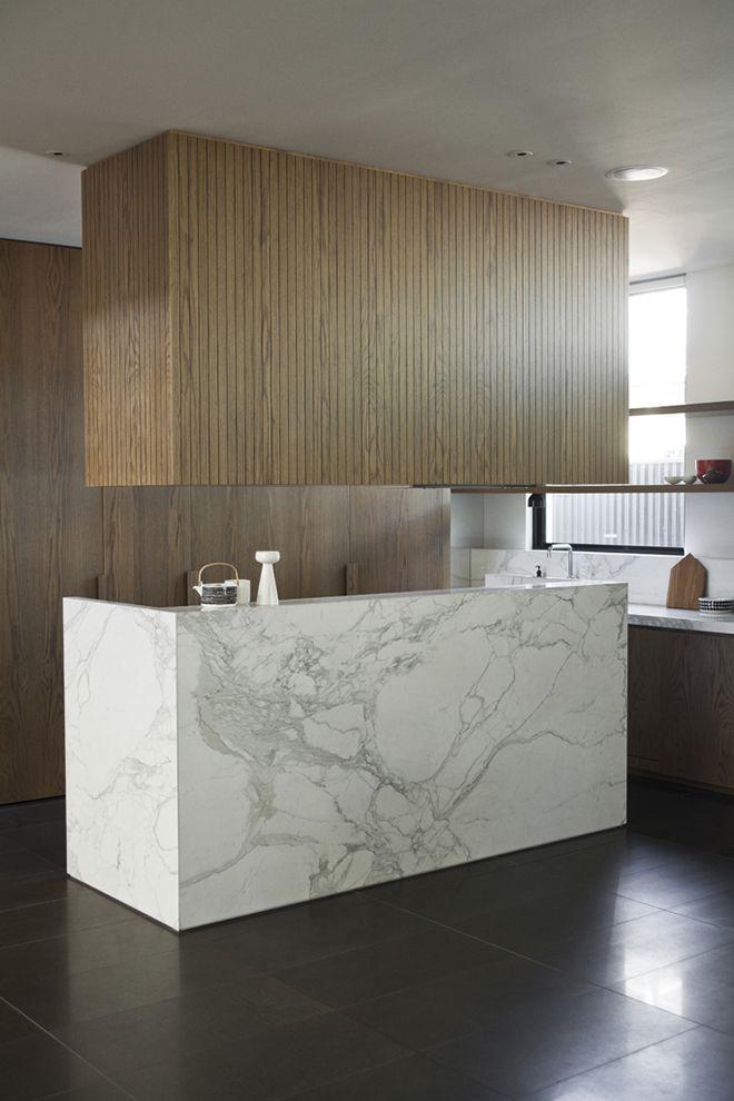 Genesin Studio - CJB residence.  Marble kitchen island.