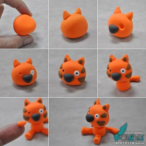 how to make light clay cat cute!