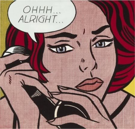 Roy Lichtenstein, Ohhh…..Alright, 1964, Oil and magna on canvas.