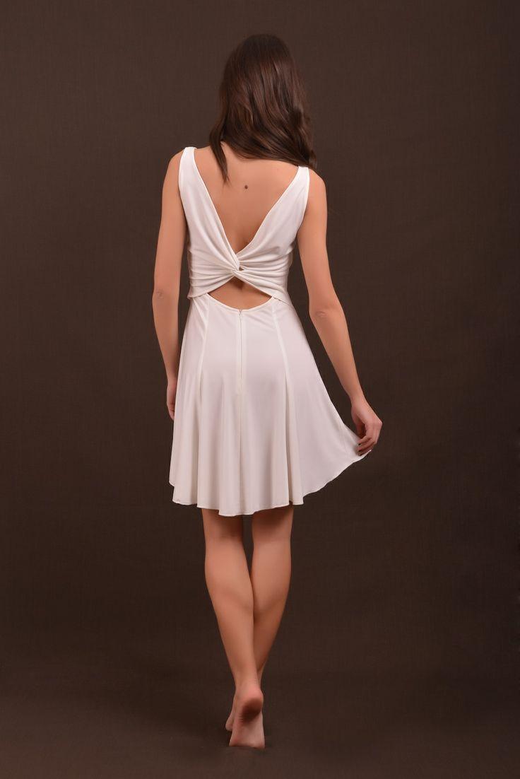 white dress back