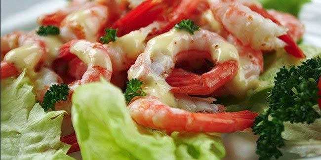 Salad Udang with Mayoinase Saus