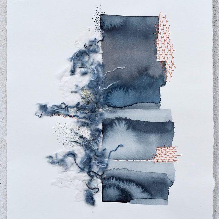 Reflejo  Mención en la muestra de arte  Artvilo 2017. . . . . #shashiko #embrodery #bordado #textileart #artetextil #sashiko #pequeñoformato