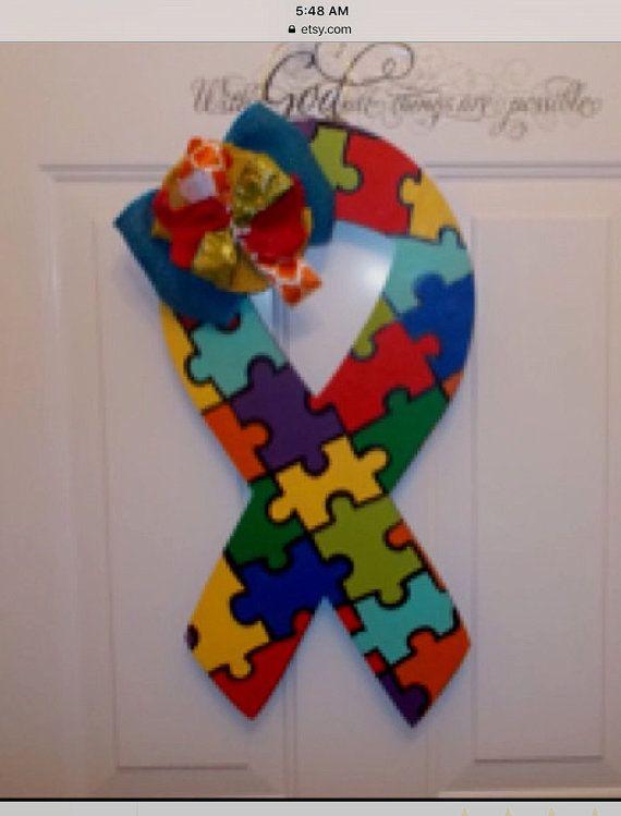 54 best Painting Autism Awareness images on Pinterest Autism - healthcare door hanger