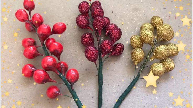 Cereza para decoracion Navideñas de corona y el arbol de Navidad