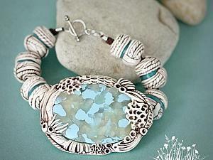 Имитация полосатых камней: лепим бусинки из пластики - Ярмарка Мастеров - ручная работа, handmade