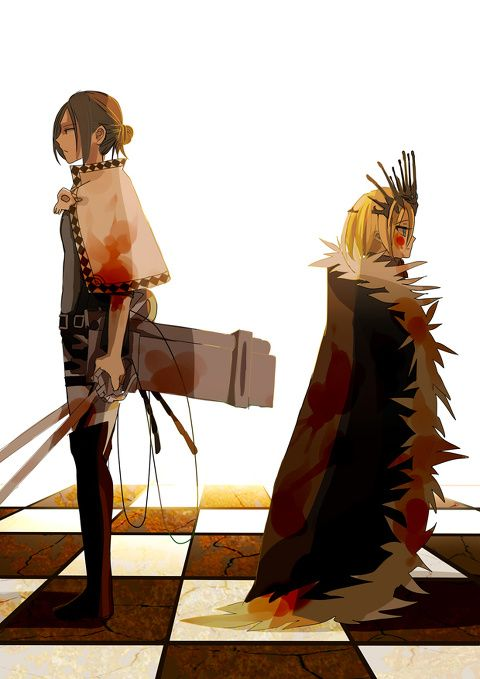Chess Plays (Attack on Titan)<<< This is how I describe their relationship in one photo