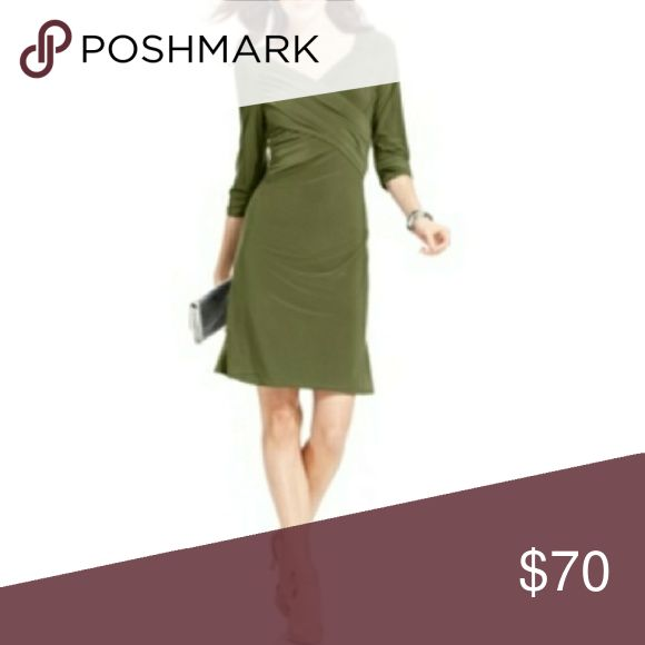 Coming Soon NY Collection Surplice Dress This sweet three-quarter-sleeved B-Slim dress from Ny Collection features a flattering crisscross front and slimming lining to create a smooth silhouette. NY Collection Dresses
