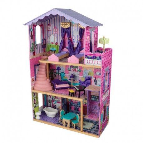 casa de muecas de madera modelo my dream mansion de kidkraft de bonito diseo para decoracin