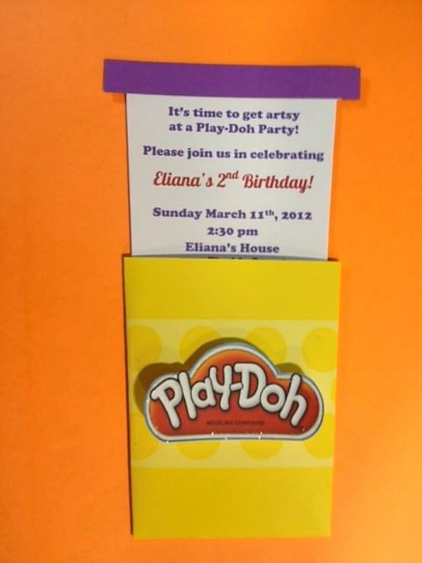 Play-Doh Invitations-these would be cute for my great nephews or for future grandchildren!