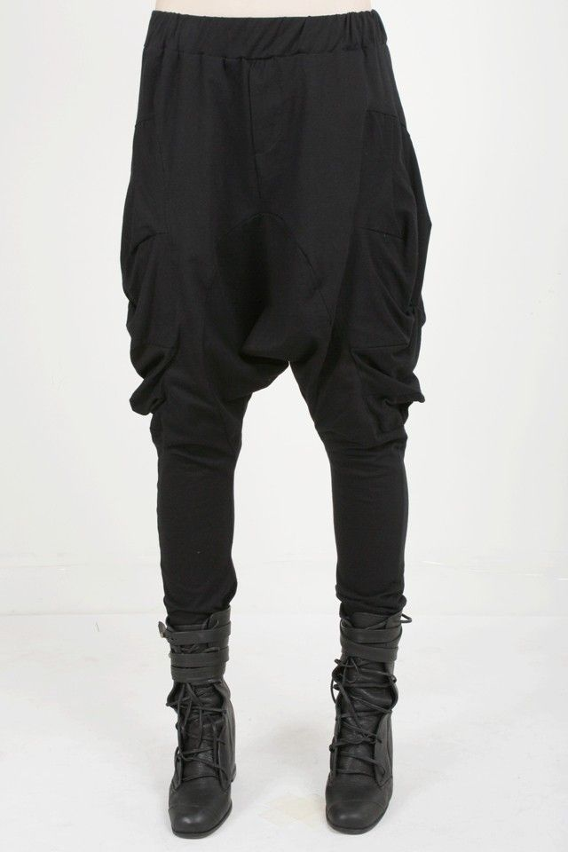 Draped Detail Drop Crotch Pants via TheUrbanApparel.com  $61.  They look best on the model.
