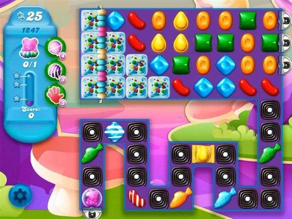 Candy Crush Soda Level 1247 Tips And Walkthrough Video