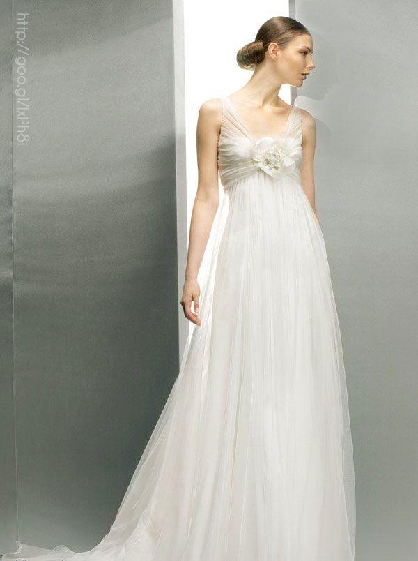 vestido de novia tipo imperio #bride #weddingdress #dress