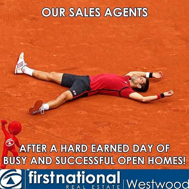 It's the Australian Open but these guys have got nothing on our sales agents!  #fnrewestwood