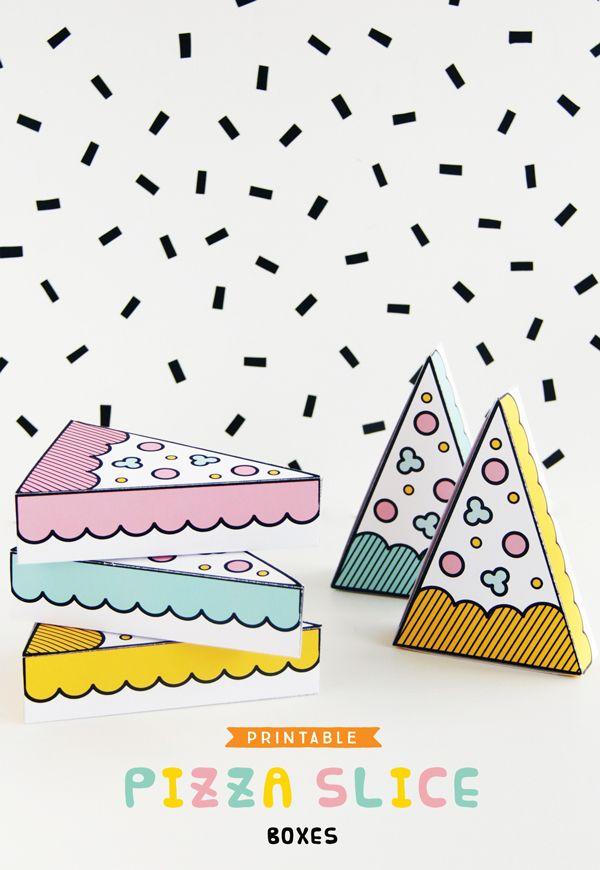 FREE Printable Pizza Slice Boxes