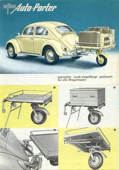 Vokswagen BUG TRAILER - How cool is this! _ga- this is going to bug me for a while. It'll follow me around all day, and I hope not to carry too much baggage due to it. hahahahahahahahahahaha
