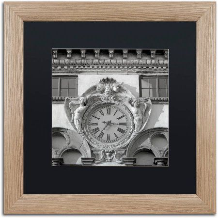 Trademark Fine Art Il Grande Orologio II Canvas Art by Alan Blaustein, Black Matte, Birch Frame, Gray