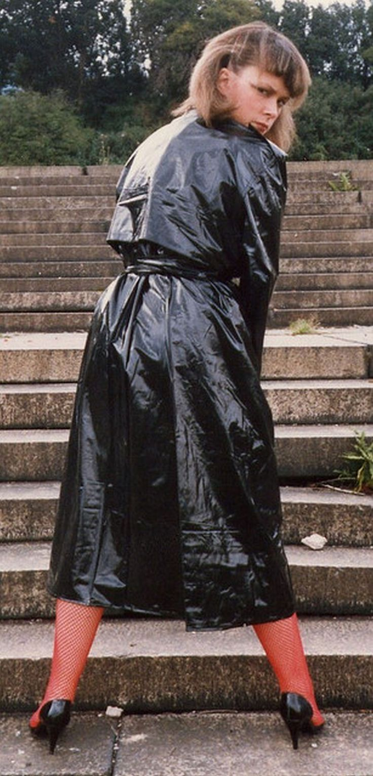 Black PVC Raincoat | long coat | Pinterest | Pvc raincoat ...