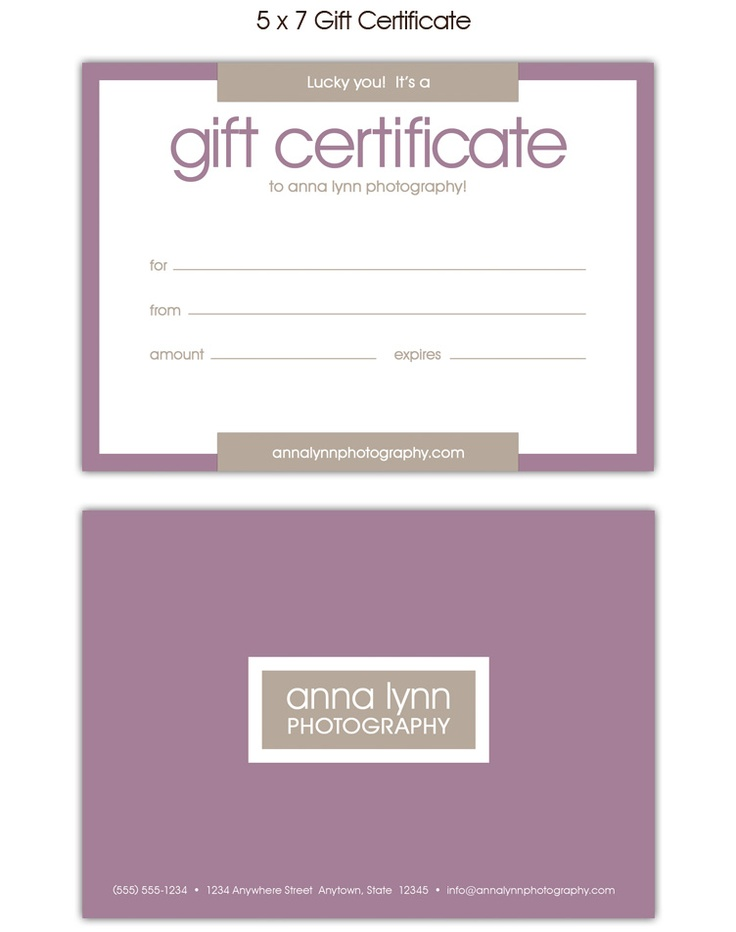 17 Best Gift Certificates Images On Pinterest Gift Certificates