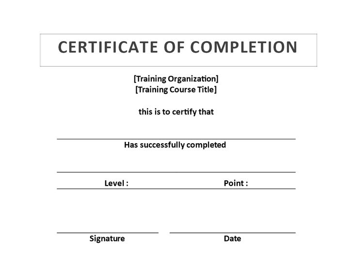 Training Certificate of Completion template - Download this - free training certificates