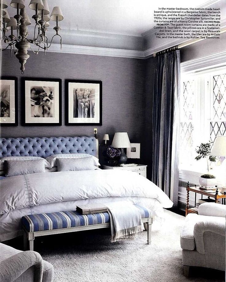 Best Beautiful Bedroom With Blue Grey Grasscloth Wallpaper 400 x 300