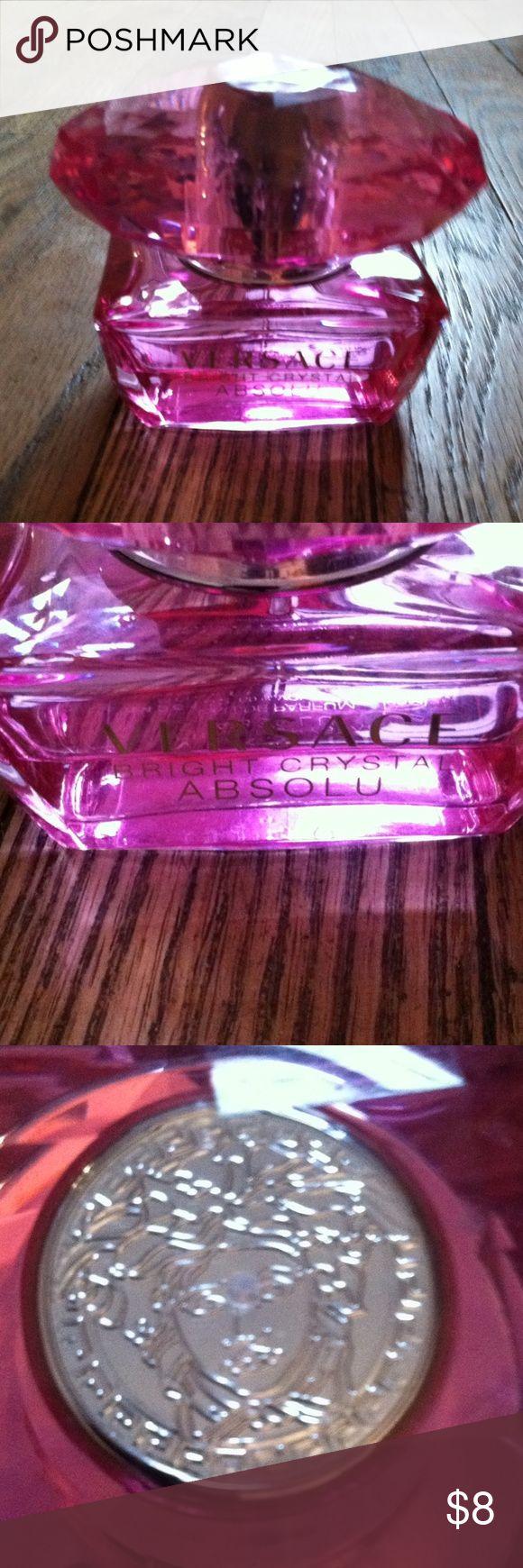 Versace Bright Crystal Absolu EDP •Eau de Parfum •About 35% left •1.7 FL OZ Bottle •Brand: Versace •Fragrance: Bright Crystal Absolu •NO TRADES Versace Makeup