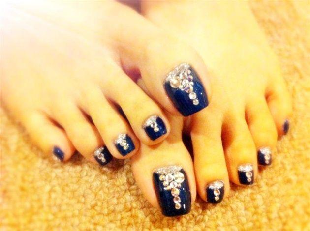 ocean blue - nail art