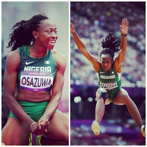 Uhunoma Osazuwa (Nigeria) - Women's Track & Field - Competed in the Heptathlon at the London Olympics