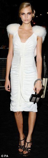 Cara Delevigne // all white